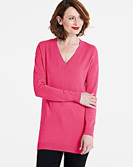 V-Neck Tunic Jumper