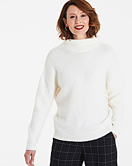 Boucle High Neck Jumper