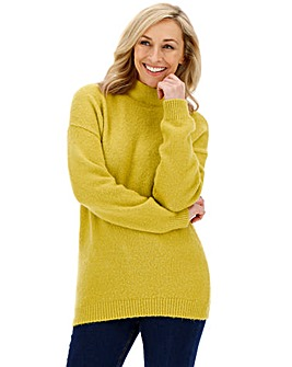 Chartreuse Cosy High Neck Jumper