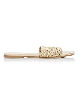 Head Over Heels Leeo Woven Slider Sandals