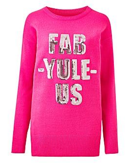 Fab-yule-us Christmas Tunic Jumper