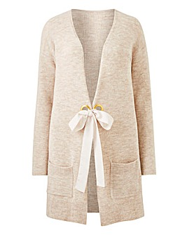 Super Soft Chiffon Tie Detail Cardigan