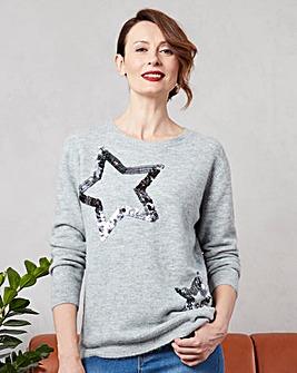 Embellished Star Jumper