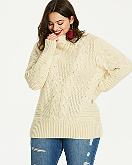 Cable Knit Fringe Detail Jumper
