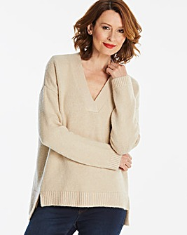 Super Soft Slouchy V-Neck Jumper