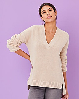 Slouchy V Neck Jumper