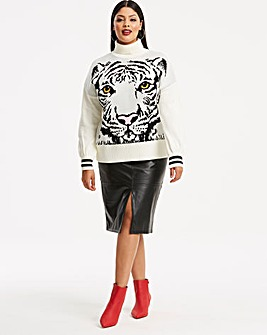Tiger Face Jacquard Jumper
