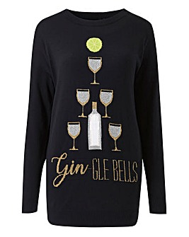 Gin-gle Bells Christmas Tunic Jumper