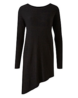 Asymmetric Hem Knitted Tunic