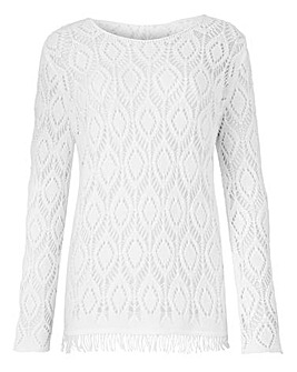Fringe Pointelle Jumper