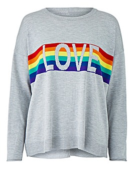 Rainbow Love Boxy Jumper