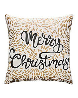 Merry Christmas Firework Cushion
