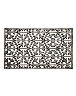 Snowflake Glitter Rubber Doormat