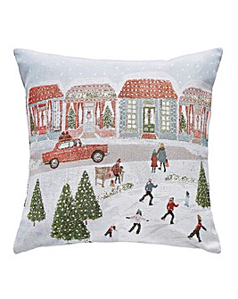 Driving Home For Christmas Cushion
