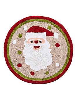 Round Santa Bath Mat