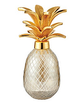 Smokey Glass Pineapple Sculpture