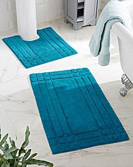 Luxury 100% Cotton Bathmats - Teal