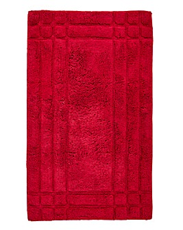 Luxury Cotton Bathmats - Cranberry