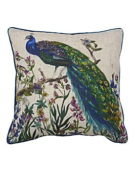 Regal Peacock Cushion
