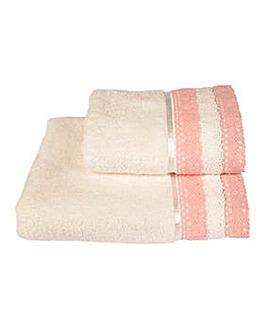 Lauren Crochet Towel Range- Pink