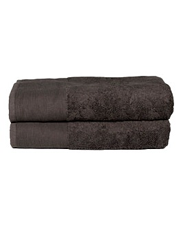Bamboo Cotton Towels- Charcoal