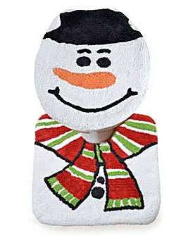 Snowman Toilet Seat Cover with Pedestal