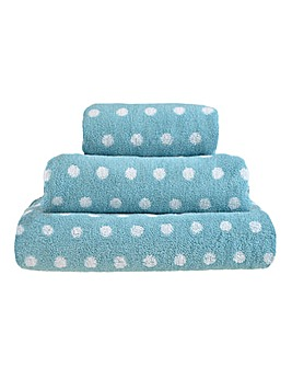 Ravel Spots Towel - Duck Egg