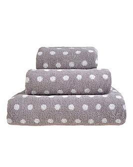 Ravel Spots Towels- Grey