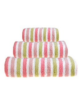Ravel Stripe Towels- Pink