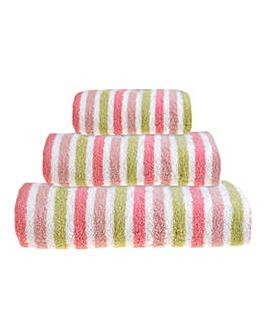 Ravel Stripe Towels- Pink