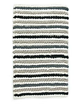 California Bobble Bath Mat- Blk/wht