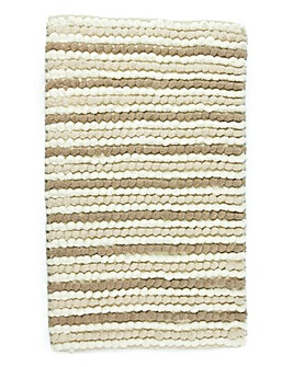 California Bobble Stripe Bath Mat- Nat