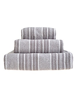 Ravel Stripe Towels- Grey