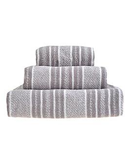 Ravel Stripe Towels- Grey