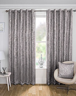 Halo Metallic Thermal Eyelet Curtain