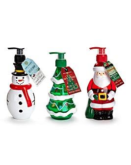 Set of 3 Christmas Soap Dispensers