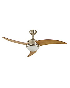 Anders Wooden 3 Arm Remote Control Ceiling Fan