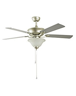 Uplighter Ceiling Fan - Satin Nickel