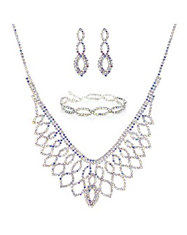 Mood Diamante Jewellery Set