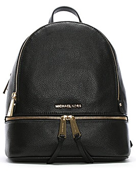 Michael Kors Leather Zip Backpack