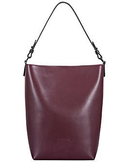 Smith & Canova Smooth Leather Bucket Bag