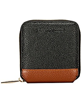 Smith & Canova Pebbled Leather Square Zip Purse
