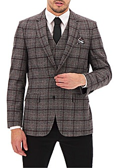 Wine/Grey Check Jackson Blazer