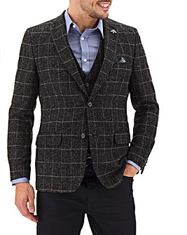 Black Check Louis Windowpane Blazer
