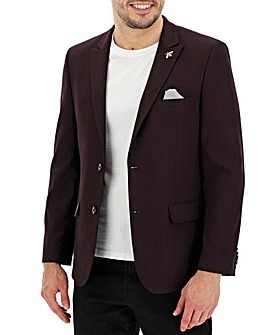 Wine Jasper Textured Blazer