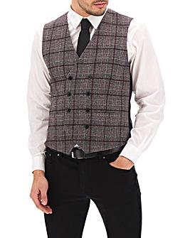 Wine/Grey Check Jackson Waistcoat