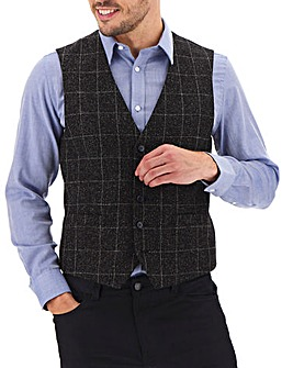 Black Check Louis Windowpane Waistcoat