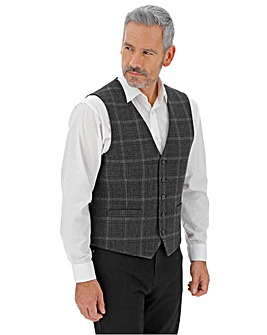 Brown/Charcoal Kenny Window Check Waistcoat