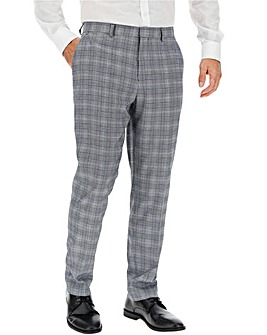 Blue Check Charlie Plaid Suit Trousers