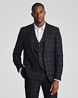 Navy Check Theo Windowpane Suit Jacket